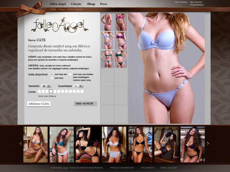 Weblayout Webdesign Productdesign fallenAngel