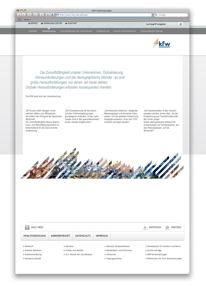 kfw Microsite Verantwortung responsibility anual report 2010